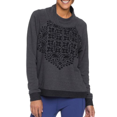 Womens Prana Camille Pullover Long Sleeve Non-Technical Tops - Black L