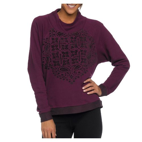 Womens Prana Camille Pullover Long Sleeve Non-Technical Tops - Grapevine XS