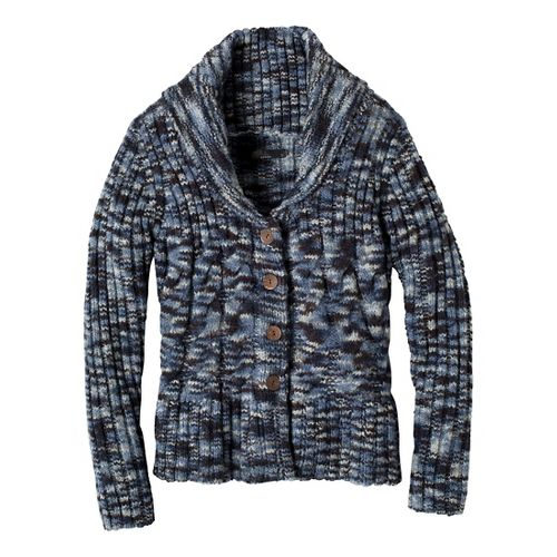 Womens Prana Charlotte Cardigan Outerwear Jackets - Blue Ridge L