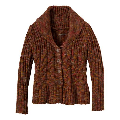Womens Prana Charlotte Cardigan Outerwear Jackets - Terracotta L