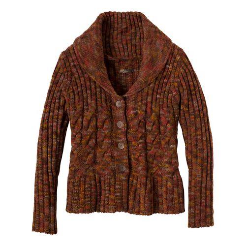 Womens Prana Charlotte Cardigan Outerwear Jackets - Terracotta XL