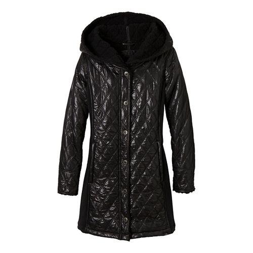Womens Prana Diva Long Outerwear Jackets - Black S