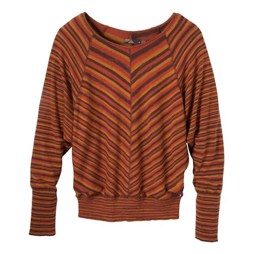 Womens Prana Emerson Sweater Long Sleeve Non-Technical Tops - Barnwood XL