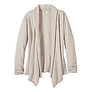 Womens prAna Georgia Wrap Long Sleeve Non-Technical Tops - White M