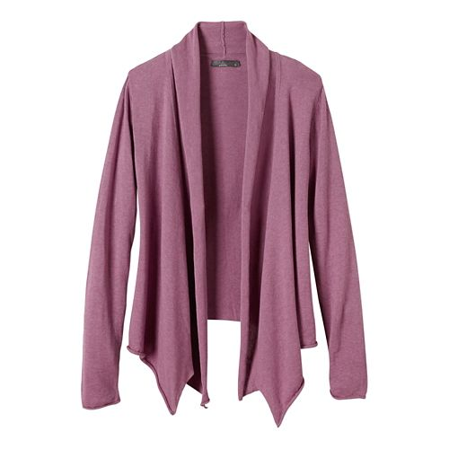 Womens prAna Georgia Wrap Long Sleeve Non-Technical Tops - True Orchid XS