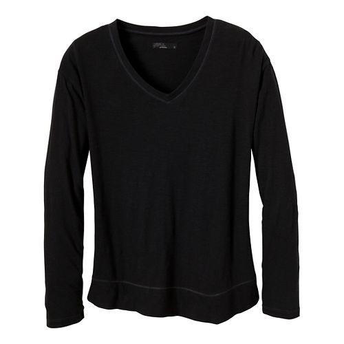 Womens Prana Heidi Long Sleeve Non-Technical Tops - Black L