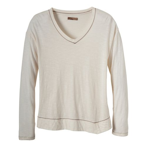 Womens Prana Heidi Long Sleeve Non-Technical Tops - Winter XS