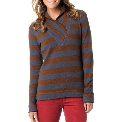Womens Prana Ivona Long Sleeve Non-Technical Tops - Barnwood S