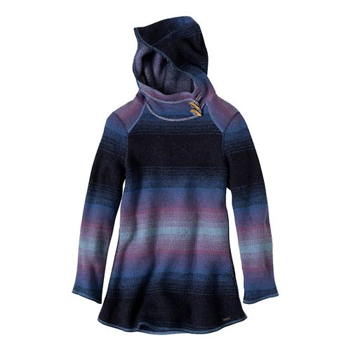 Womens Prana Kirsten Tunic Sweater Long Sleeve Non-Technical Tops - Blue Twilight XL
