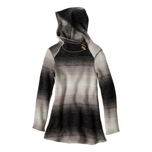 Womens Prana Kirsten Tunic Sweater Long Sleeve Non-Technical Tops - Gravel S