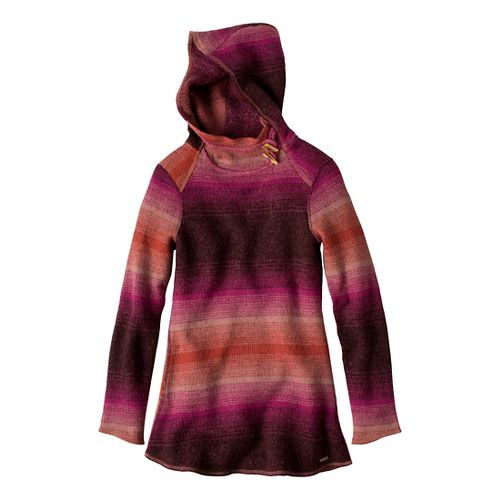 Womens Prana Kirsten Tunic Sweater Long Sleeve Non-Technical Tops - Plum Red M