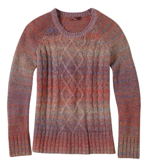 Womens prAna Leisel Sweater Long Sleeve Non-Technical Tops - Brown L