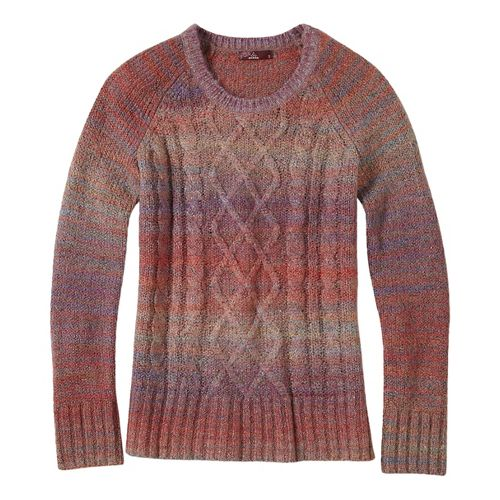 Womens prAna Leisel Sweater Long Sleeve Non-Technical Tops - Brown S