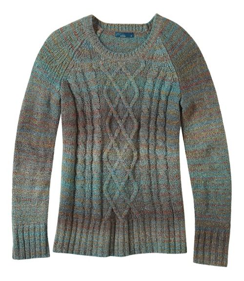 Womens prAna Leisel Sweater Long Sleeve Non-Technical Tops - Brown M