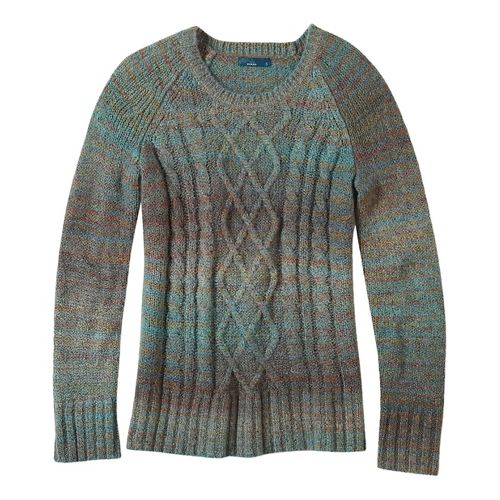 Womens prAna Leisel Sweater Long Sleeve Non-Technical Tops - Green L