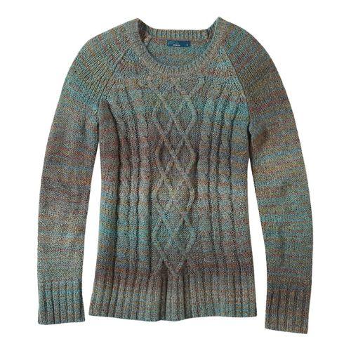 Womens prAna Leisel Sweater Long Sleeve Non-Technical Tops - Green XL
