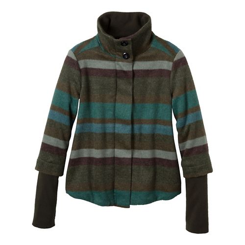 Womens Prana Lily Outerwear Jackets - Cargo Green L