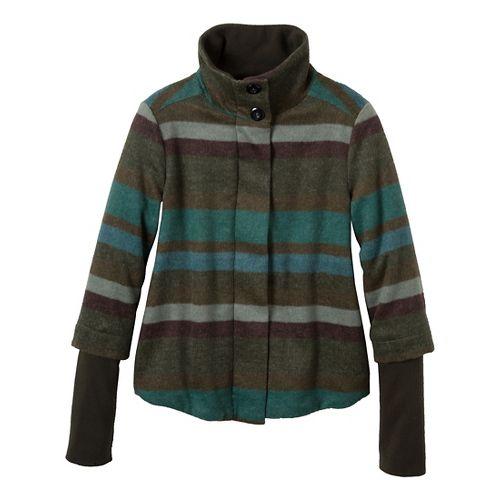 Womens Prana Lily Outerwear Jackets - Cargo Green XL