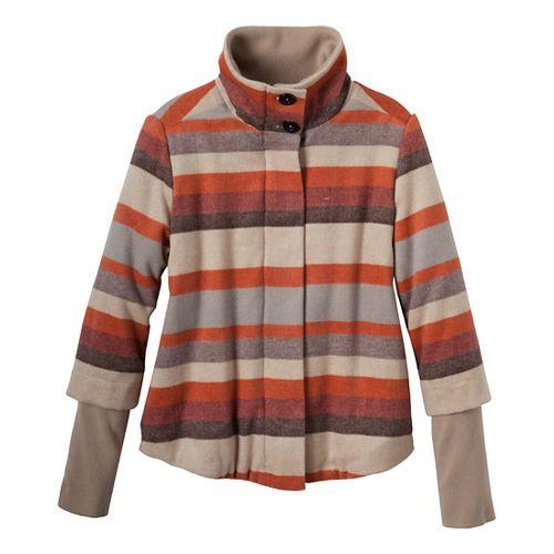 Womens Prana Lily Outerwear Jackets - Khaki M