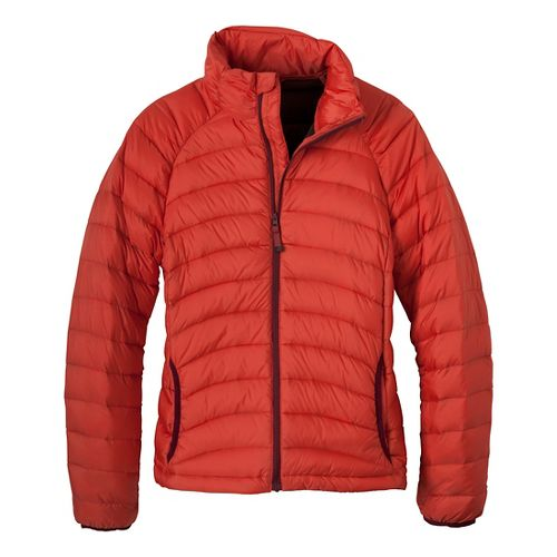 Womens Prana Lyra Down Outerwear Jackets - Paprika L