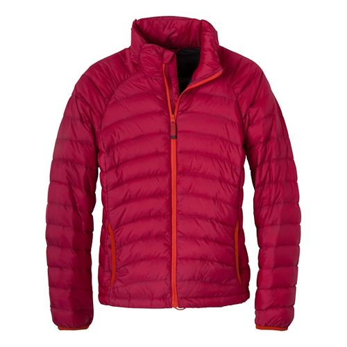 Womens Prana Lyra Down Outerwear Jackets - Scarlet L