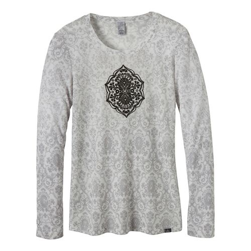 Womens Prana Mallory Long Sleeve Non-Technical Tops - Charcoal XS