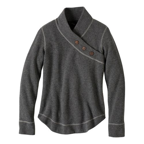 Womens Prana Mena Sweater Long Sleeve Non-Technical Tops - Coal L