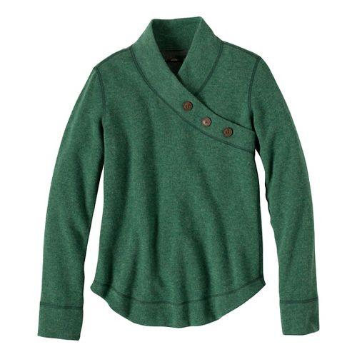 Womens Prana Mena Sweater Long Sleeve Non-Technical Tops - Deep Jade L