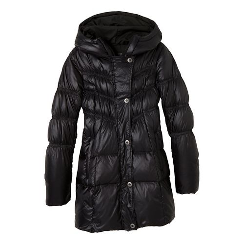 Womens Prana Milly Down Outerwear Jackets - Black S