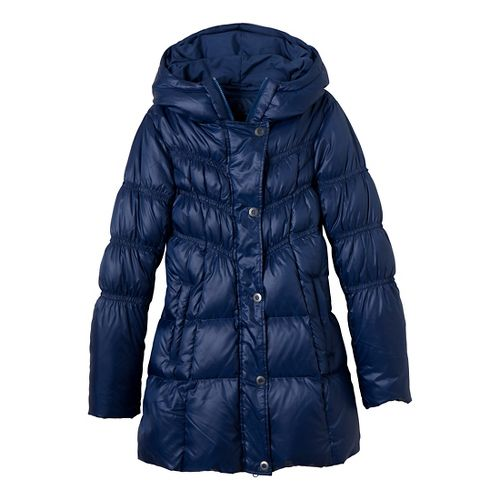 Womens Prana Milly Down Outerwear Jackets - Blue Twilight L