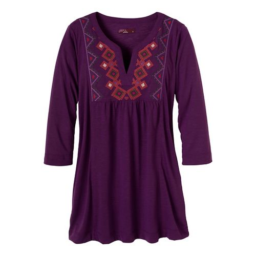 Womens Prana Mira Cover Up Long Sleeve Non-Technical Tops - Red Violet S