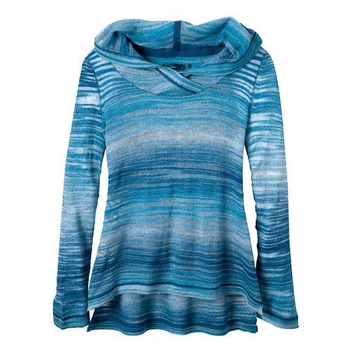 Womens Prana Nina Sweater Long Sleeve Non-Technical Tops - Blue Ridge S
