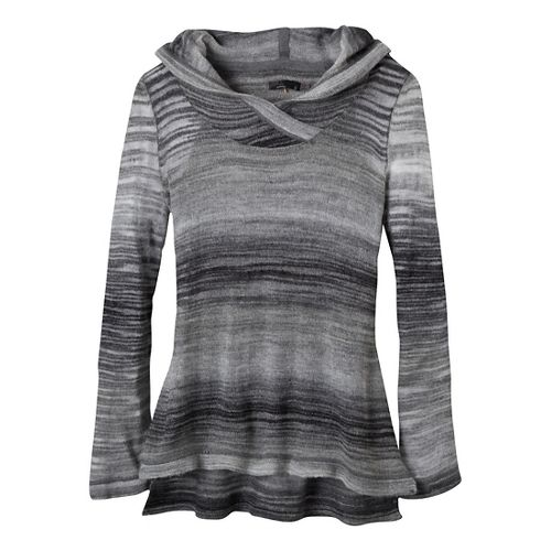 Womens Prana Nina Sweater Long Sleeve Non-Technical Tops - Coal M