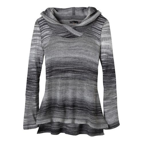 Womens Prana Nina Sweater Long Sleeve Non-Technical Tops - Coal XL