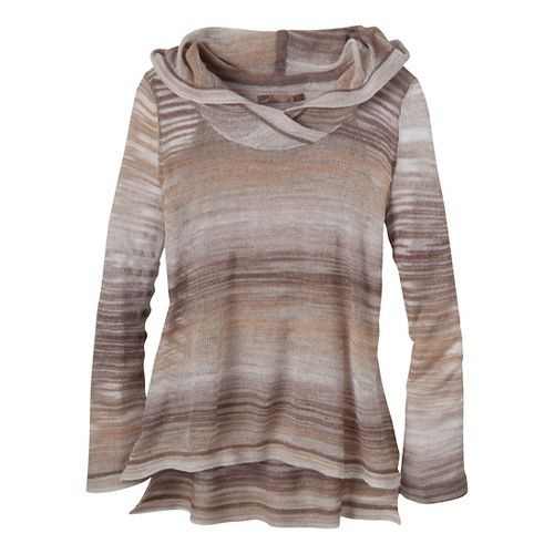 Womens Prana Nina Sweater Long Sleeve Non-Technical Tops - Khaki L