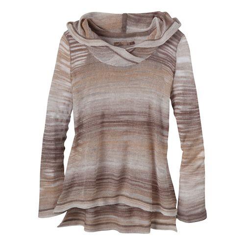 Womens Prana Nina Sweater Long Sleeve Non-Technical Tops - Khaki XS