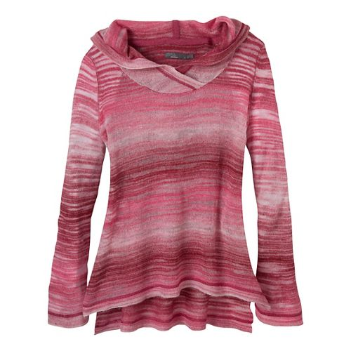 Womens Prana Nina Sweater Long Sleeve Non-Technical Tops - Plum Red L