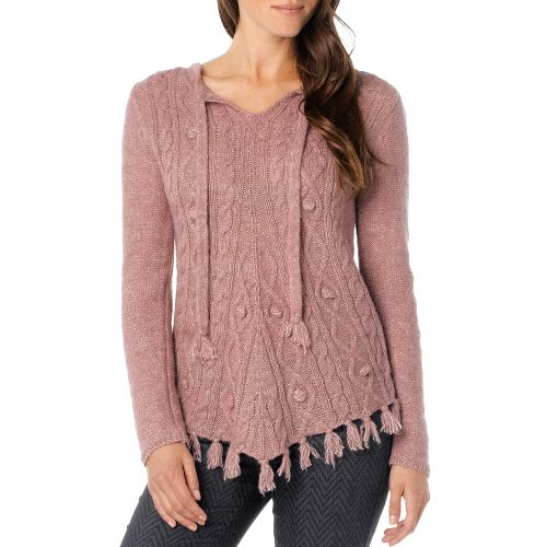 Womens Prana Shelby Poncho Long Sleeve Non-Technical Tops - Light Mauve L