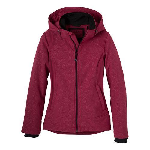 Womens Prana Sinta Outerwear Jackets - Plum Red XL