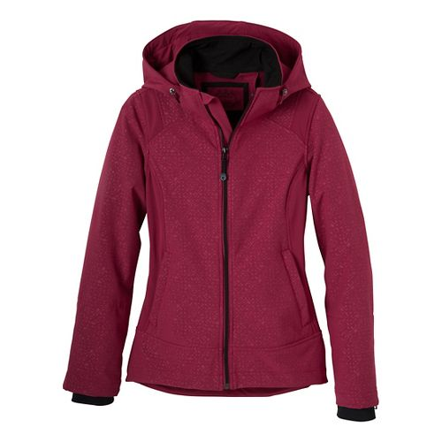 Womens Prana Sinta Outerwear Jackets - Plum Red XS