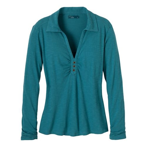 Womens Prana Sulia Long Sleeve Non-Technical Tops - Adriatic S