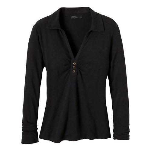 Womens Prana Sulia Long Sleeve Non-Technical Tops - Black XS