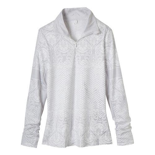 Womens Prana Tatiana Long Sleeve 1/2 Zip Technical Tops - White XS