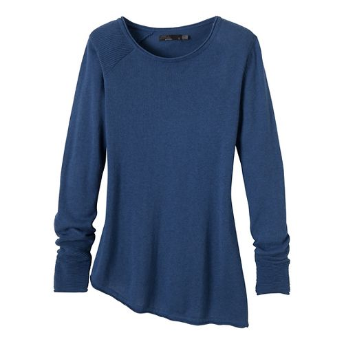 Womens Prana Therese Sweater Long Sleeve Non-Technical Tops - Blue Twilight XL