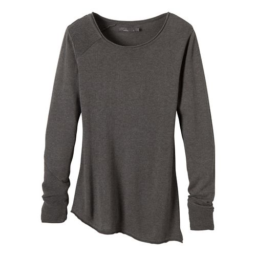 Womens Prana Therese Sweater Long Sleeve Non-Technical Tops - Crushed Cran S