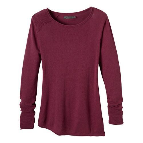 Womens Prana Therese Sweater Long Sleeve Non-Technical Tops - Charcoal L