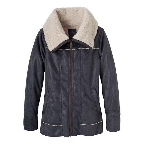 Womens Prana Tricia Outerwear Jackets - Coal L