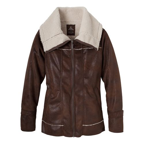 Womens Prana Tricia Outerwear Jackets - Coffee L
