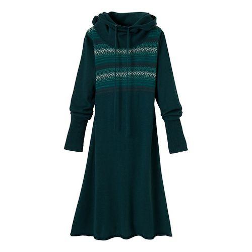 Womens Prana Coco Dress Fitness Skirts - Deep Teal M