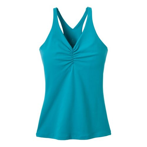 Womens Prana Sabin Chakara Tanks Technical Tops - Capri Blue M